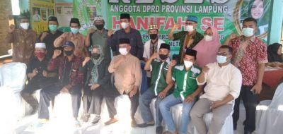 Hanifah S.E DPRD Provinsi F-PKB Gelar Reses di Way Khilau Pesawaran