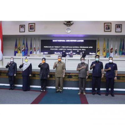 Sekretaris Daerah Hadiri Rapat Paripurna DPRD provinsi Lampung